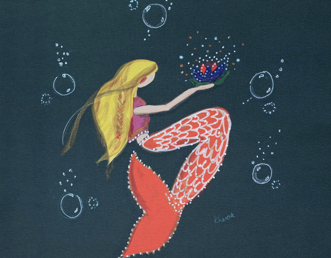 hand-embellished-mermaid-print