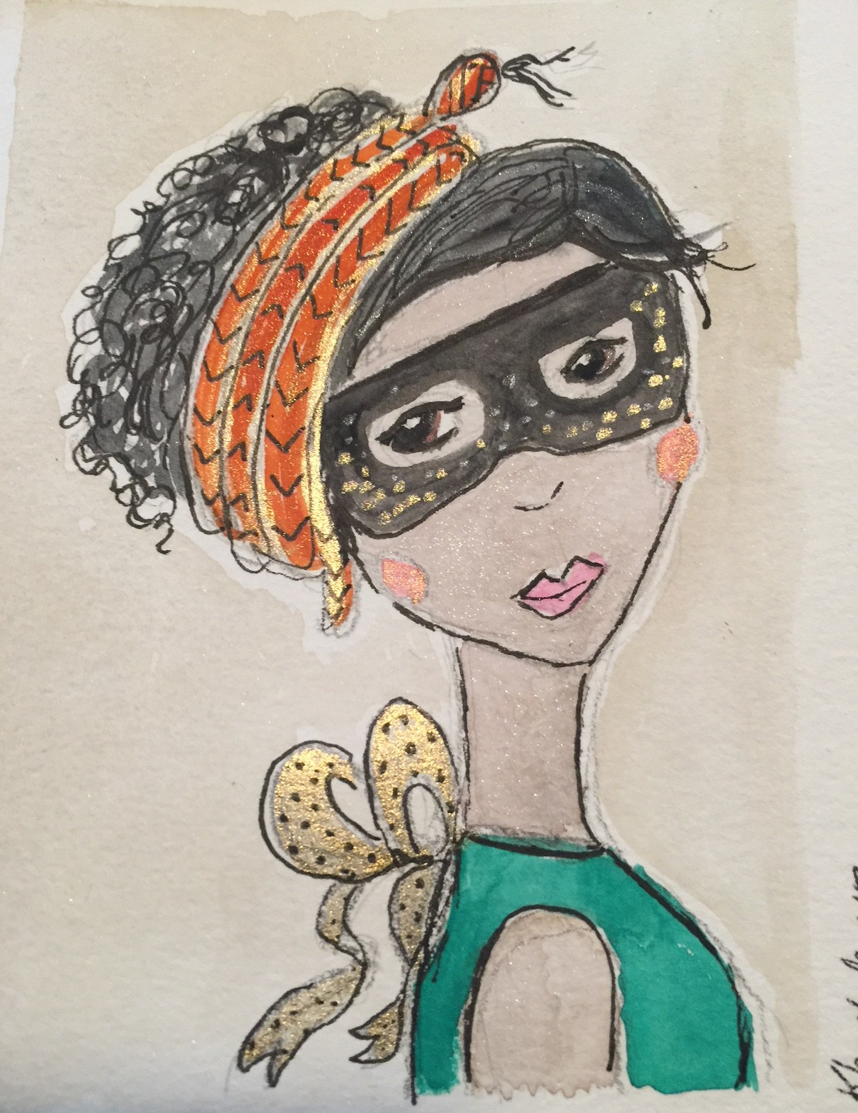 Girl with Snake as Hairband