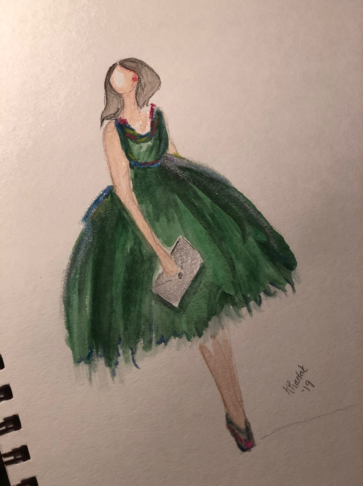 Girl in Green Dress