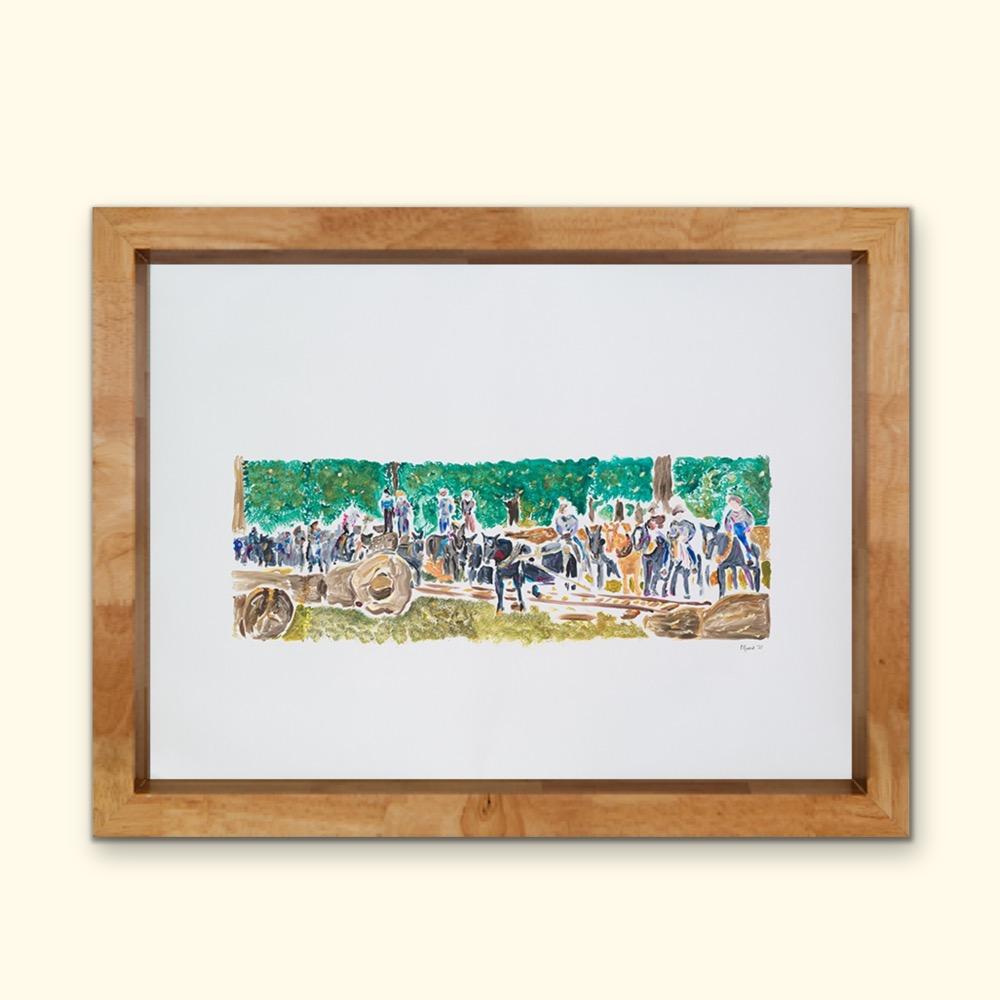Example of framed East Texas History wall art.